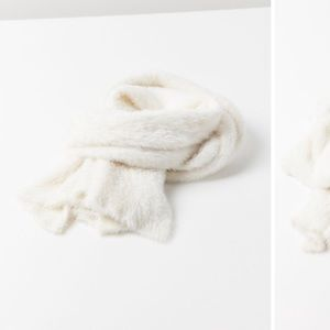 White cozy scarf